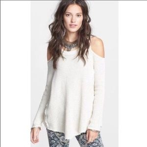 NWOT Free people cold shoulder sunrise sweater